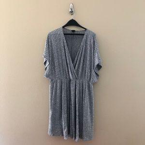 Torrid Sz 3 Surplice Skater Sweater Dress Gray